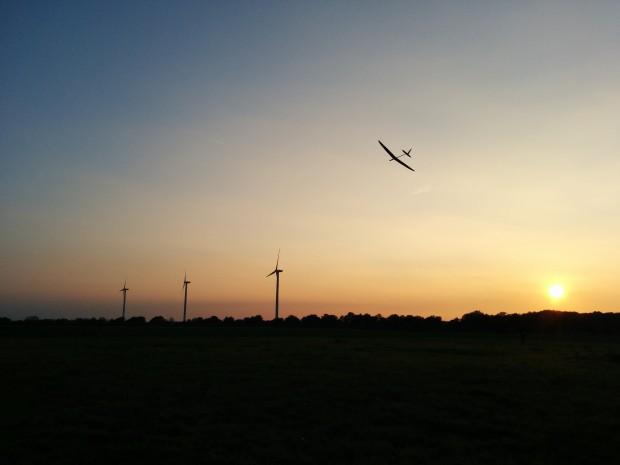 Abendlicher Landeanflug